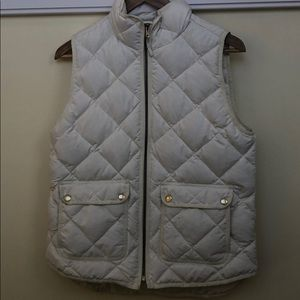 J. Crew white quilted puffer vest